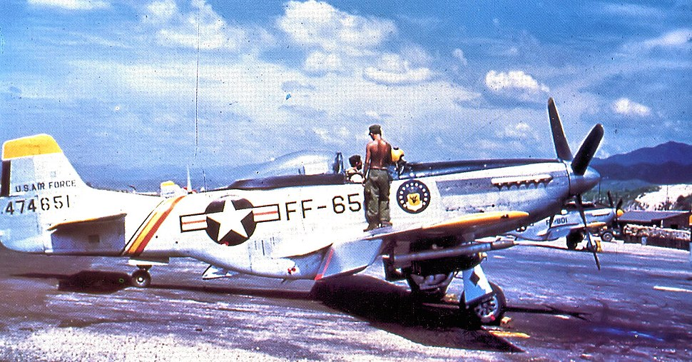 18th Fighter-Bomber Wing North American F-51D-30-NA Mustang 1950 South Korea