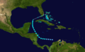 1916 Atlantic tropical storm 15 track.png
