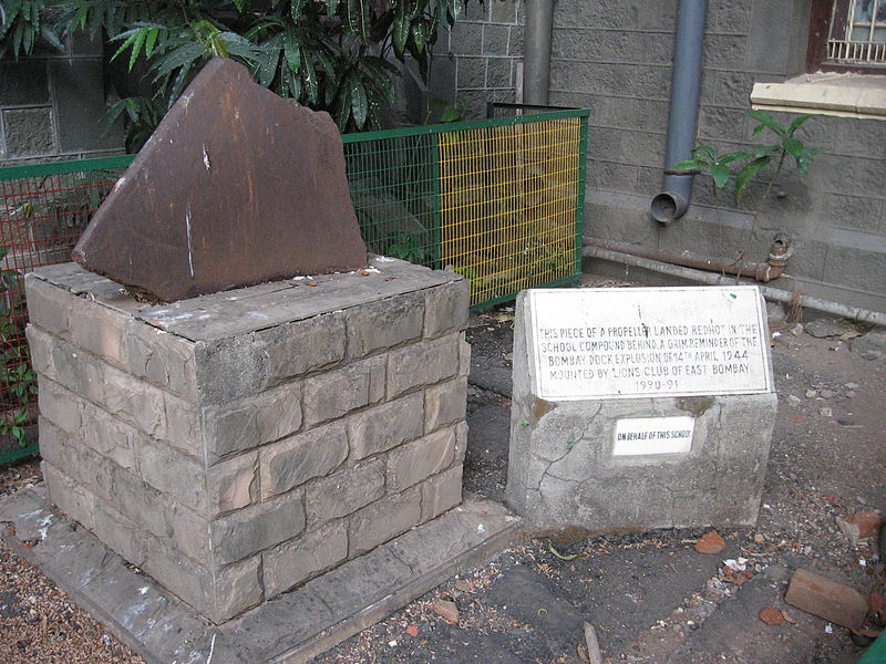 "Image result for ""Erected by Public Subscription in sacred memory of The Officers and Men of the Bombay Fire Services who lost their lives in the Bombay Dock explosion"