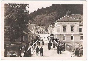 Šoštanj - 1955 postcard of Šoštanj