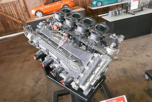 McLaren MP4/8 - Image: 1989 1993 Ford Cosworth HB Formula One engine (2015 01 01) 02