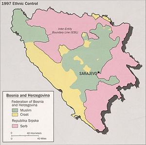 Croatian Republic of Herzeg-Bosnia - Croat- and Bosniak- controlled parts of the Federation in 1997