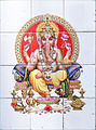 1 Hindu deity Ganesha on ceramic tile at Munnar Kerala India March 2014.jpg