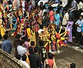 1st day procession with costumed Durga and Kali at the Hindu festival Onam in Kerala.jpg