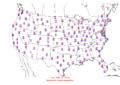 2006-02-14 Max-min Temperature Map NOAA.png