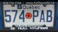 2006 Québec license plate 574 PAB veteran.png