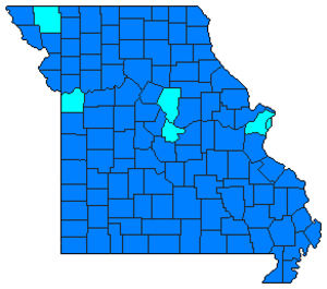 Missouri Democratic primary, 2008 - Image: 2008MOdemprimary
