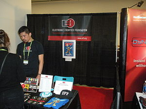 Electronic Frontier Foundation - EFF booth at the 2010 RSA Conference