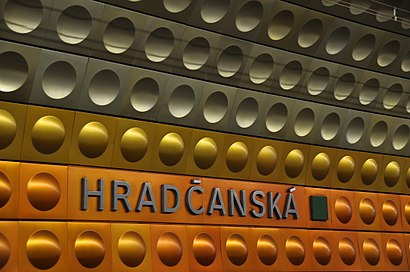 How to get to Hradčanská with public transit - About the place