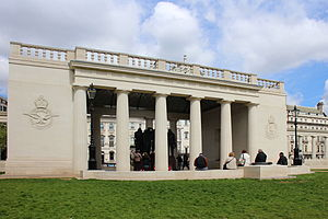 RAF Bomber Command Memorial - Exterior of the memorial in 2013.