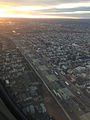 2014-12-19 16 19 03 View of the New Jersey Turnpike (Interstate 95) in Elizabeth, New Jersey from a plane heading for Newark Airport.JPG
