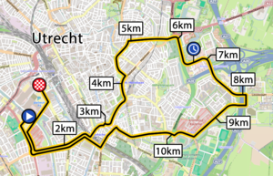 2015 Tour de France, Stage 1 map.png
