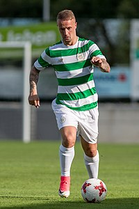 c5a93136a 20170701 SK Rapid Wien vs Celtic FC 1570.jpg. Griffiths playing for Celtic  in 2017