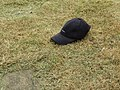 2018-05-23 Lost baseball cap, Playing field, Suffield Park, Cromer.JPG