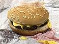 2019-02-28 21 43 08 A Burger King cheeseburger in Oak Hill, Fairfax County, Virginia.jpg