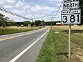2020-06-19 12 35 38 View north along Maryland State Route 381 (Aquasco Road) at Horsehead Road along the edge of Baden and Cedarville in Prince George's County, Maryland.jpg