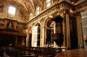 Sant'Antonio Abate, Milan - The interior of the church.
