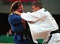 241000 - Judo Anthony Clarke fights Ian Rose 3 - 3b - Sydney 2000 match photo.jpg