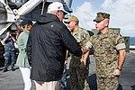 26th MEU, USS Kearsarge welcome aboard President Trump, First Lady 171003-M-GQ832-078.jpg