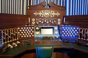 A Christmas Carol (Doctor Who) - The controls in Kazran's study, on display at a Doctor Who exhibition.