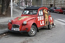 2Bobule advertisement car in Brno, Brno-City District.jpg