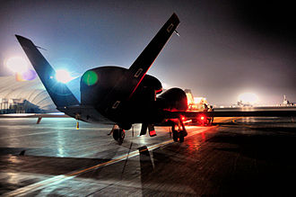 380th Expeditionary Operations Group - RQ-4 Global Hawk from Beale AFB, California attached to the 12th Expeditionary Reconnaissance Squadron