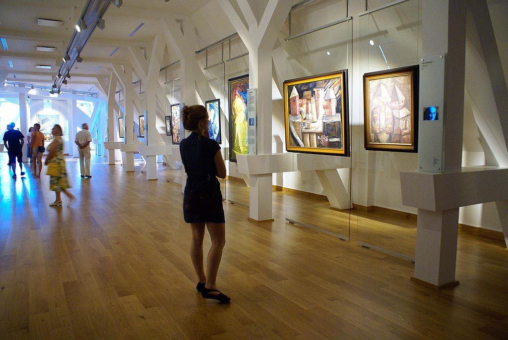 A l'intérieur du musée des beaux arts de Wroclaw. Photo de Barbara Maliszewska