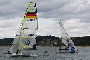 49er (dinghy) - 49er skiffs in a race