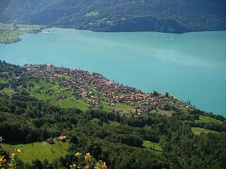 Brienz - Brienz village from the Brienzer Rothorn.