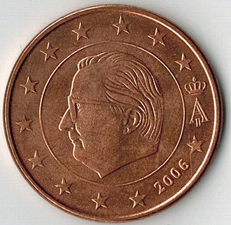 5 euro cent coin - Belgium's first series of 5-cent coins, replaced on Philippe's accession to the throne