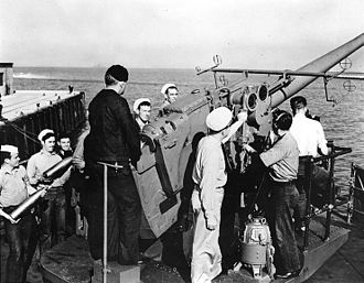 "SS Antigua - 5""/38 caliber gun with crew of 12–20 men"