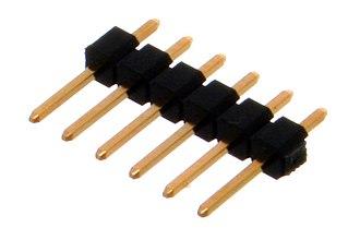 Pin header - 6x1 male pin header
