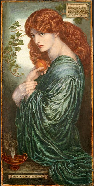 Proserpine (Rossetti painting) - Rossetti's eighth and final version of Proserpine, now in the Birmingham Museum and Art Gallery (1882)