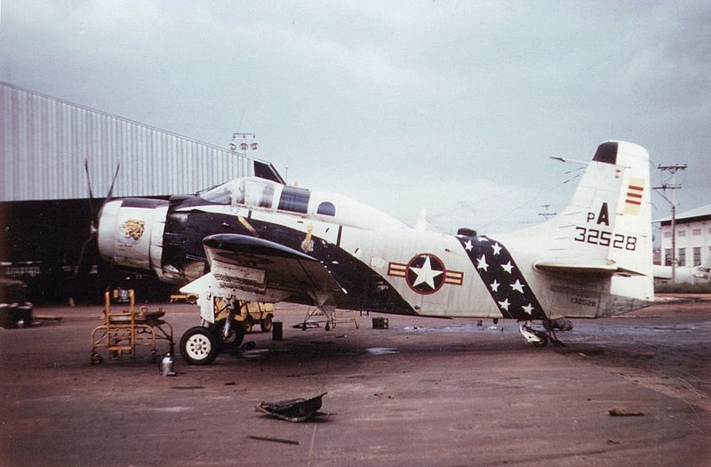 http://upload.wikimedia.org/wikipedia/commons/thumb/b/bf/A-1G_VNAF_parked_c1965.jpeg/800px-A-1G_VNAF_parked_c1965.jpeg