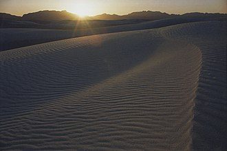 White Sands National Monument - Parabolic dune at sunset