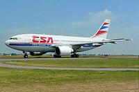 Airbus A310-300 ČSA na letišti v Praze