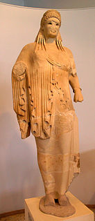 ancient sculpture by Antenor from the Acropolis of Athens
