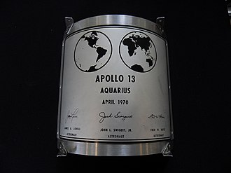 Lunar plaque - Image: APOLLO 13 LUNAR PLAQUE replica