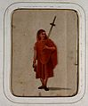 A Buddhist monk (?) in orange robes Wellcome V0046131ER.jpg
