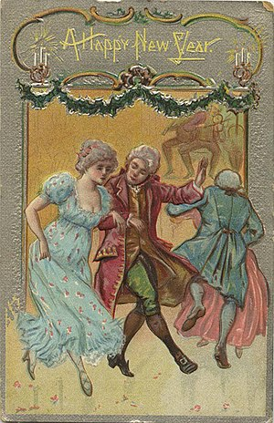 A Happy New Year, 1800 period clothing and dancing (NBY 20316)