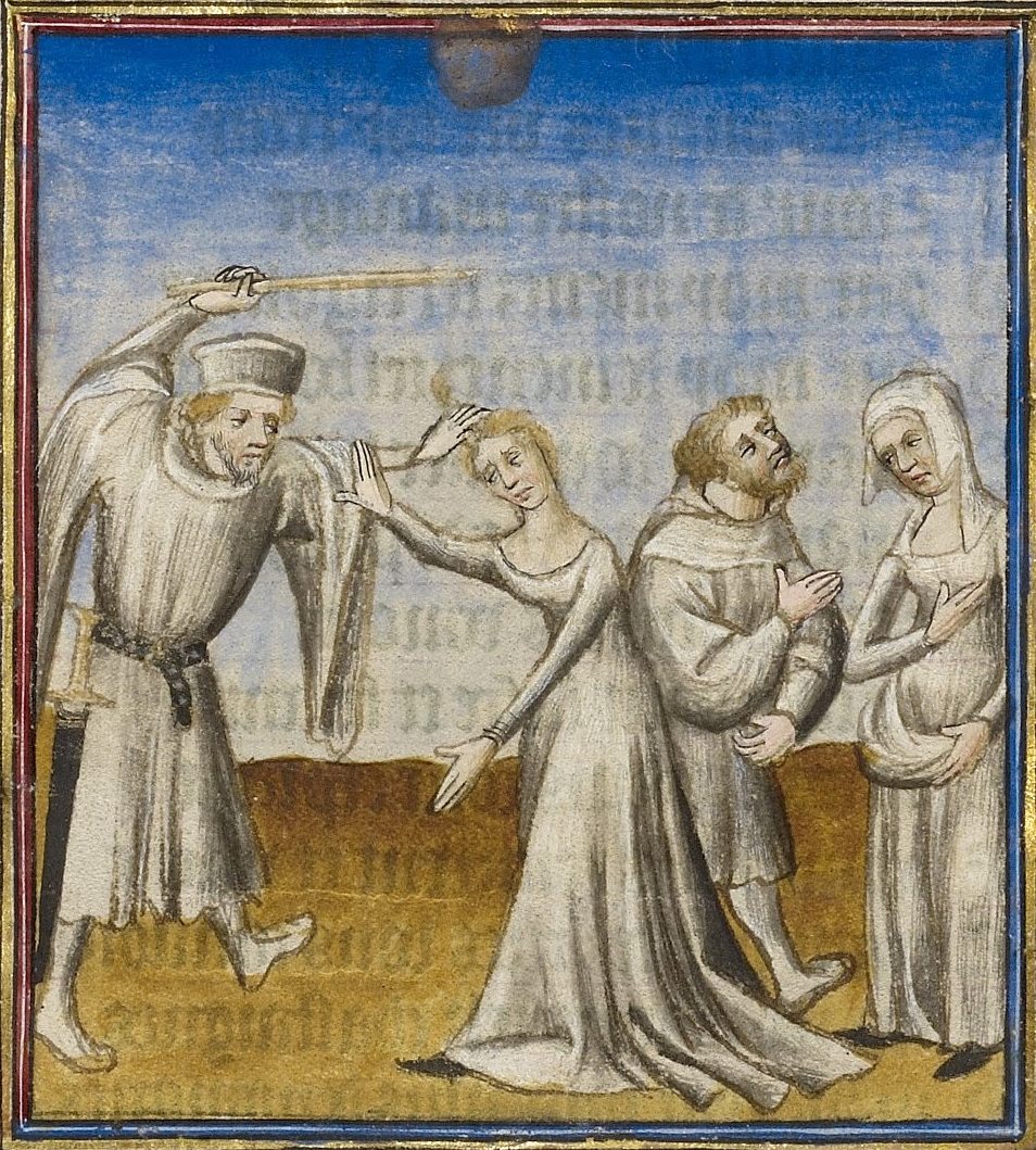 A Husband Beating his Wife with a Stick - Google Art Project