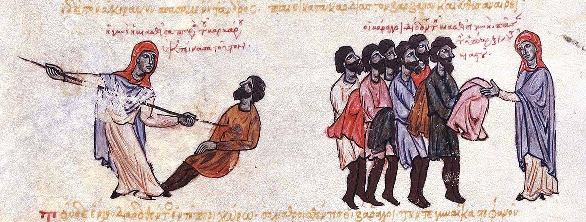 A Thracesian woman kills a Varangian.jpg