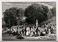 A landscape with Austrian pilgrims gathering around a sculpt Wellcome V0048169.jpg
