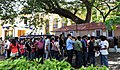 A large number of film Connoisseur waiting for the turn to get the ticket for their selected films to be screened at the IFFI-2010, in Panjim, Goa on November 22, 2010.jpg