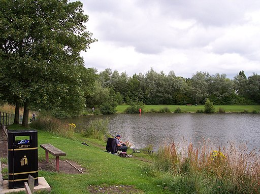 A quiet moment at Orrell Water Park - geograph.org.uk - 1969742