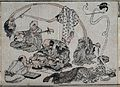 A strange Japanese scene of people with odd features Wellcome V0046622.jpg