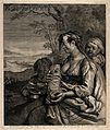 A woman breast feeding her baby and looking after two small Wellcome V0015026.jpg