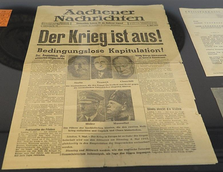 Datei:Aachener Nachrichten 8. Mai 1945.jpg