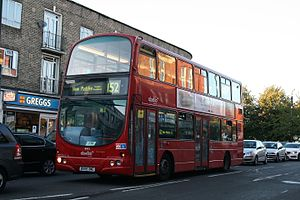 London Buses route 152 - Abellio London Wright Gemini bodied Volvo B7TL in Mitcham in October 2014