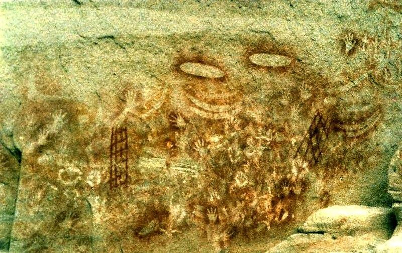 Fichier:Aboriginal art Carnarvon Gorge.jpg